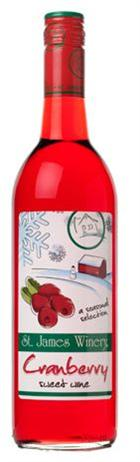 St James Winery Cranberry Wine